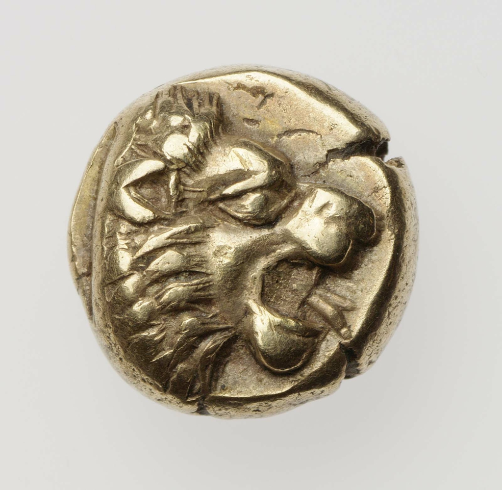 6 stater of Mytilene with head of lion 480–430 B.C.