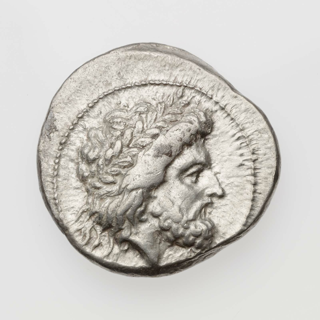 Stater of Polyrhenion with head of Zeus about 330–280 B.C.