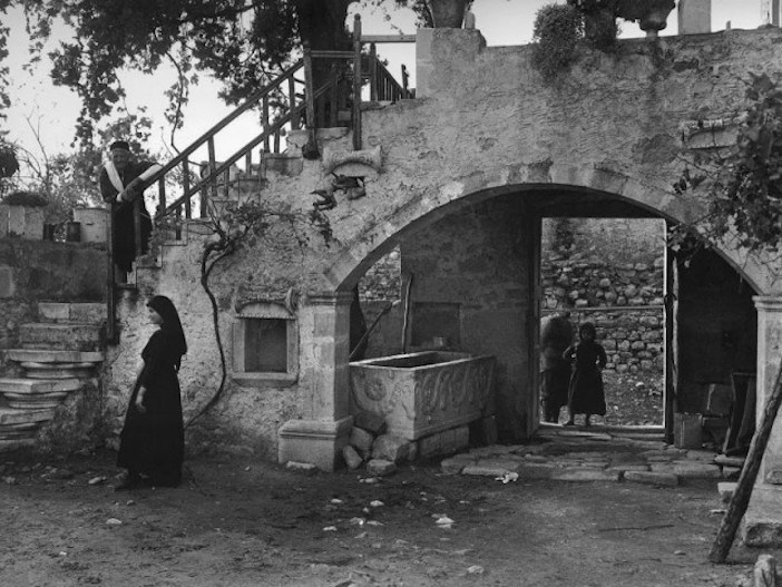 Crete 1919, porch of a house