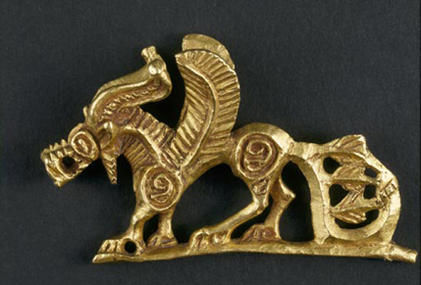 Scythian gold griffin horse body